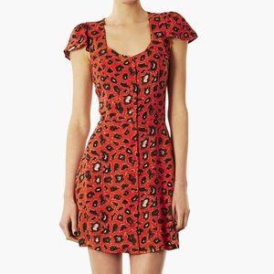 TopShop | Leopard Open Back Dress
